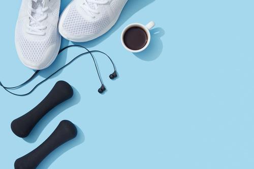 Relação do café com atividade física.